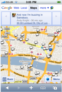 Snapshot - Buzz Map on iPhone
